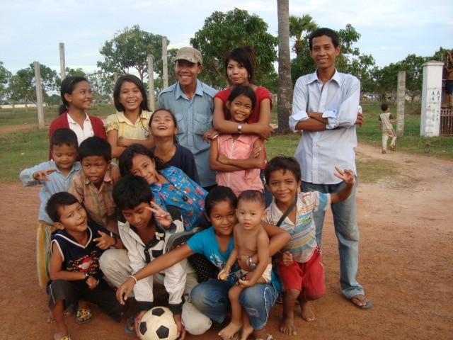 Group picture - orphans from Cambodia