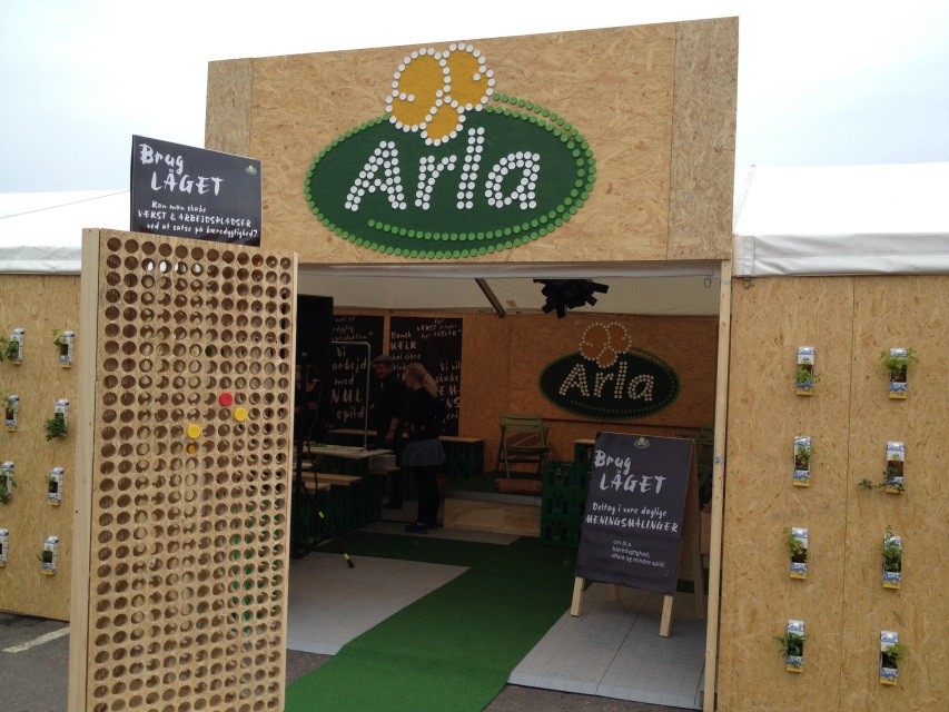 Arla promoting their green strategy at The People Meeting 2013