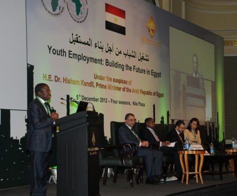 Prime Minister Dr. Hisham Kandil Opens a Joint-African Development Bank and Social Fund for Development Youth Employment Forum