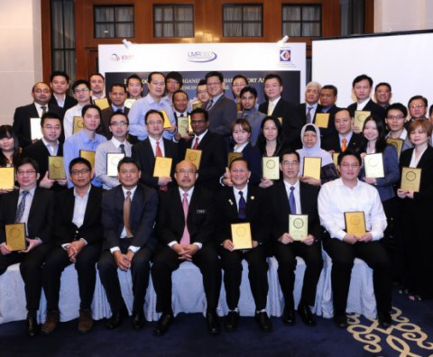 Group photo of the GCA 2012 recipients