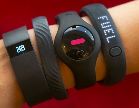 Fitbit Force, Jawbone Up,  Fitbug Orb, Nike FuelBand SE