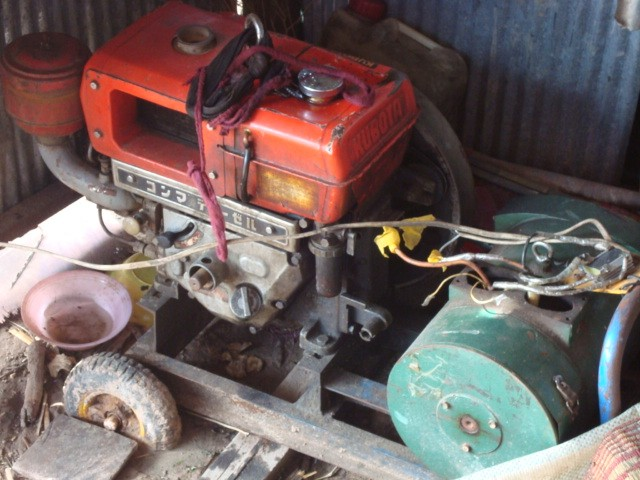 Petrol-powered generator providing energy for the orphanage