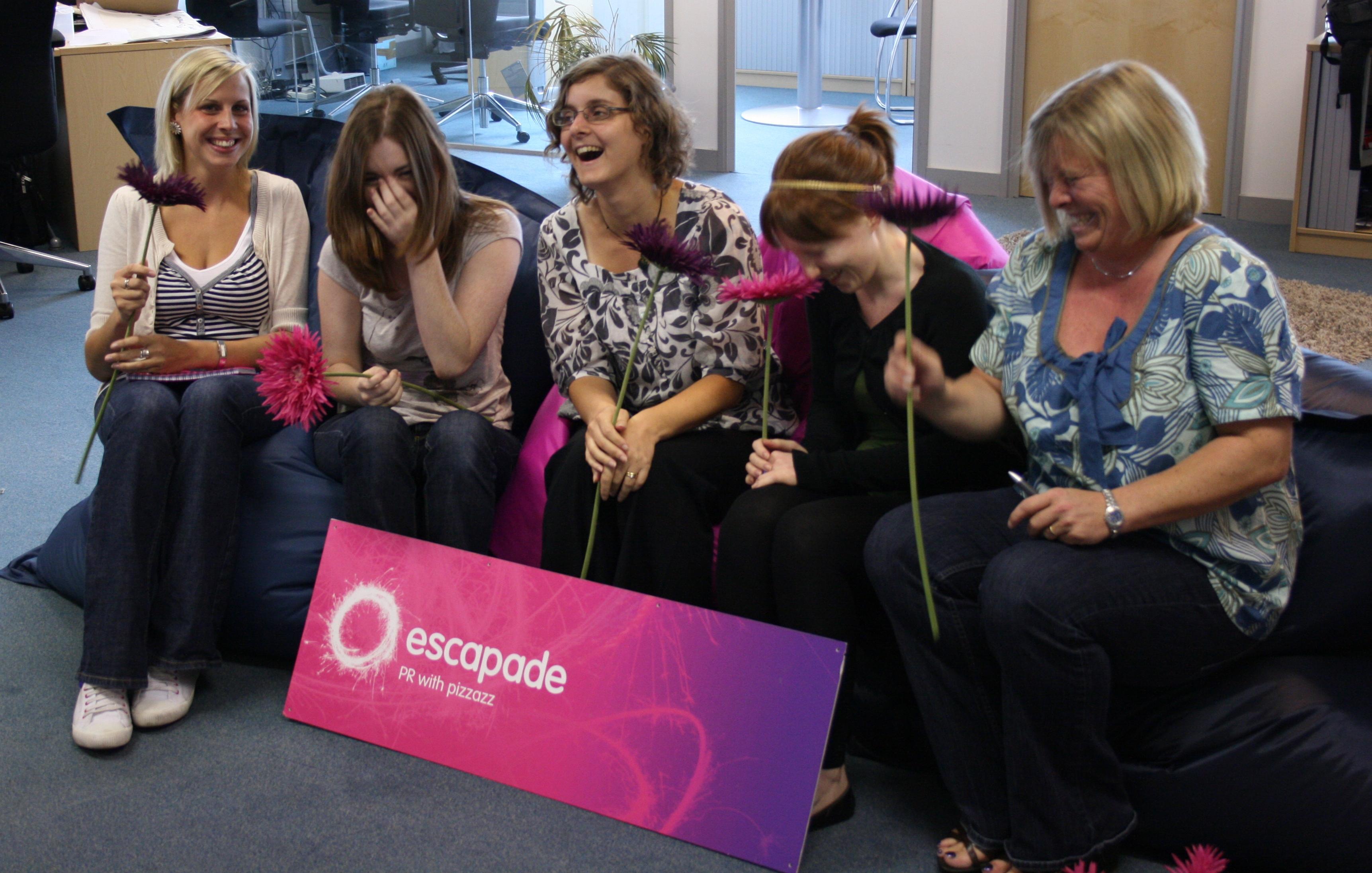Having fun at work - the Escapade Team