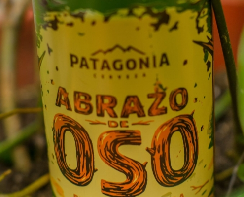 Argentina - Patagonia bottle with Abrazo Oso written on the tag
