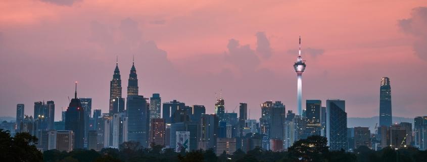 Malaysia - Skyscrapers at dawn