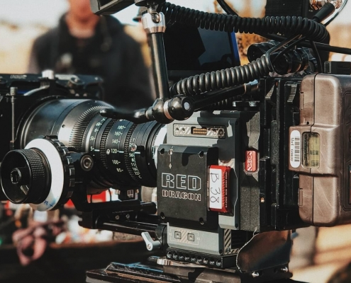 Close up film camera