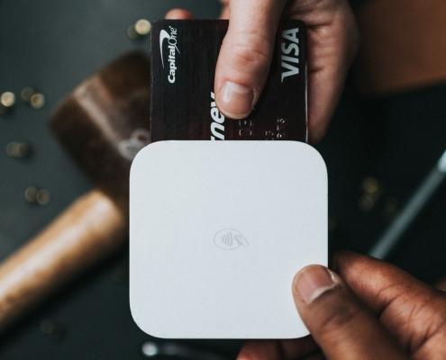 Fintech transaction using tech gadgets and a payment card