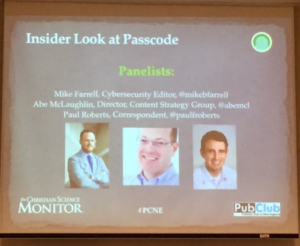 Cybersecurity Publication, Passcode