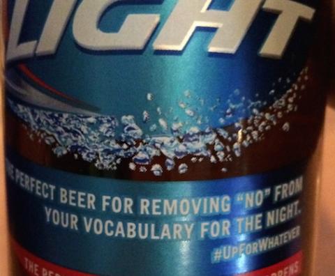 Bud Light's social media no-no