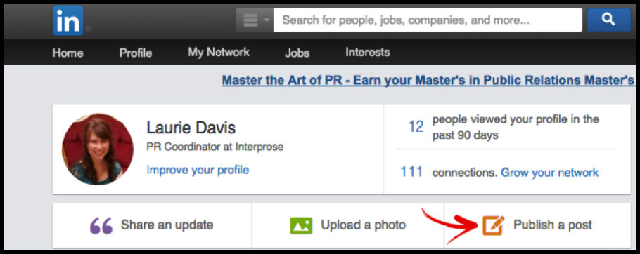 LinkedIn Pulse Publish Button