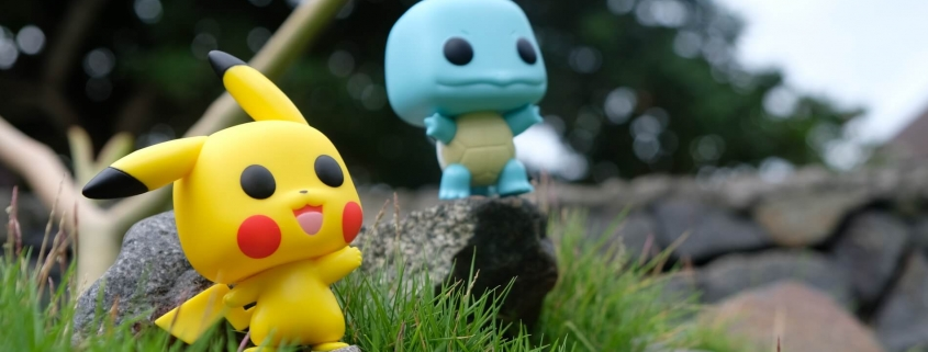 Pokemons in the grass - Gaming icons