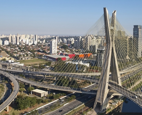 Bridge in Sao Paulo, Brazil