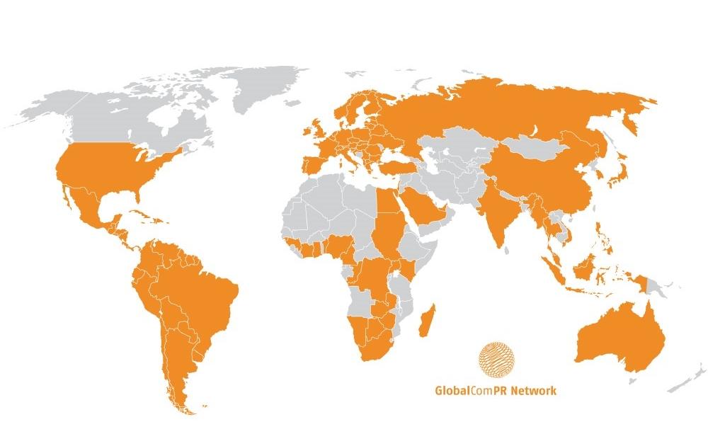 GlobalCom World Map
