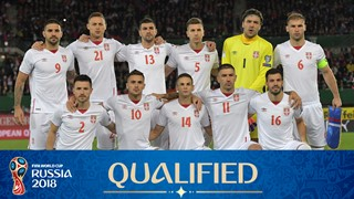 team photo for Serbia